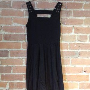Dress with spiked-straps and criss-cross back